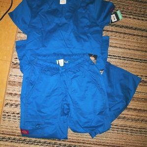 NWT Dickies royal blue scrubs
